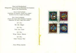 Schweiz Suisse 1968: PTT-Faltblatt Pro Patria 1968 Mit Abart WII140.2.01 Schwarzer Strich Zwischen Den Händen - Variétés