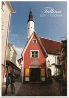 ESTONIA. Traditional Local Estonian Lutheran Church., Postcard Sent To Andorra, With Arrival Postmark - Monumentos