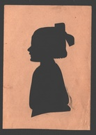 Silhouet / Silhouette - Paper On Paper - Handmade - 9 X 12,8 Cm - Silhouettes