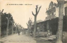 13 - SAINT ETIENNE DU GRES - Café Coupet En 1924 - Francia