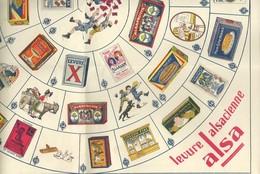 Jeu De L'Alsa (type Jeu De L'oie). - Levure Alsacienne. - Group Games, Parlour Games