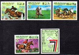 CI1351 - LIBIA LYBIA 1978 , Serie Yvert N. 658/662  ***  MNH  Csi Ippica - Ippica