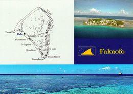 1 AK Tokelau Islands / Das Atoll Fakaofo * Map - Landkarte Des Atolls Fakaofo Und Eine Ansicht Der Insel Fakaofo * - Ansichtskarten