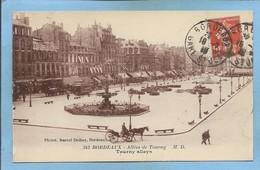 Bordeaux (33) Allées De Tourny 2 Scans 18-01-1919 Attelage Etablissements Allez Frères Cachet Bordeaux Gare - Bordeaux