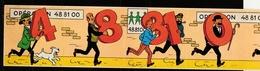Bande De 5 Autocollants Tintin Pour L' Opération 48.81.00 émis En 1974 Et Se Tenant Ensemble ( Voir Photos ). - Stickers