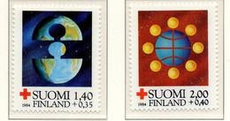 PIA - FINLANDIA  - 1984 : Pro Croce Rossa- La Pace - (Yv 910-11) - Primo Soccorso