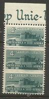 South Africa - 1942 Artillery 4d Margin Strip Fine MNH **   SG 103  Sc 95 - South Africa (...-1961)