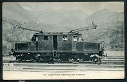 Suisse (VS) - Locomotive électrique Du Simplon - N° 230 - Voir 2 Scans - VS Valais