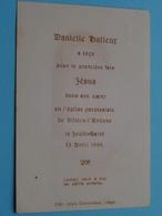 H. Communie  Danielle HALLEUR > L'Eglise VILLERS-L'EVÊQUE Le 15 Avril 1954 ( Zie Foto's ) ! - Comunión Y Confirmación