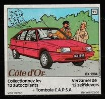 Autocollant Tintin Côte D'Or N°11 Issu D'une Série De 12 Modèles Différents émis En 1984 ( Voir Photos ). - Stickers