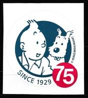 Autocollant Tintin émis En 2004 Pour Son 75ème Anniversaire ( Voir Photos ). - Stickers