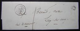 Lizy Sur Ourcq (Seine Et Marne) 1852 , Avec Lettre C (boite Rurale) - Storia Postale