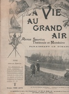 LA VIE AU GRAND AIR 29 07 1900 - TIR AU PIGEON - TIR A L'ARC VINCENNES - CHAMPIONNAT DU MONDE ATHLETISME - WATER-POLO - - 1900 - 1949