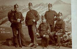 UR - ST. GOTTHARD, Gruss Vom St. Gotthard, Soldaten, FOTO-KARTE - 1913 - UR Uri