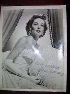 Gene Tierney /Laura/ Original Autograph On Big Photo - Autogramme & Autographen