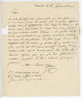 Bollwiller An 7 - 15.4.1799 Beltz Officier De Santé  Lettre En Franchise - Postmark Collection (Covers)