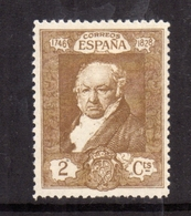 SPAIN ESPAÑA SPAGNA 1930 FRANCISCO GOYA CENT. 2c MLH - Nuovi
