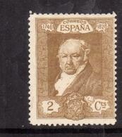 SPAIN ESPAÑA SPAGNA 1930 FRANCISCO GOYA CENT. 2c MLH - 1889-1931 Regno: Alfonso XIII