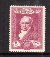 SPAIN ESPAÑA SPAGNA 1930 FRANCISCO GOYA CENT. 5c MLH - Nuovi
