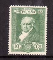 SPAIN ESPAÑA SPAGNA 1930 FRANCISCO GOYA CENT. 10c MLH - Nuovi