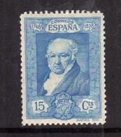 SPAIN ESPAÑA SPAGNA 1930 FRANCISCO GOYA CENT. 15c MLH - Nuovi
