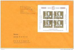 Schweiz Suisse Pro Patria 1960 Zu WII102 Mi Block 17 Yv BF 17 O TAG DER BRIEFMARKE 4.XII.60 AUTOMOBIL-POSTBUREAU - Tag Der Briefmarke