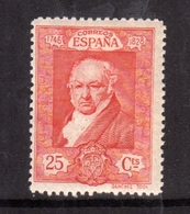 SPAIN ESPAÑA SPAGNA 1930 FRANCISCO GOYA CENT. 25c MLH - 1889-1931 Regno: Alfonso XIII