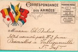 CP-  Correspondance Des Armées - 5 Drapeaux- - Marcofilia (sobres)