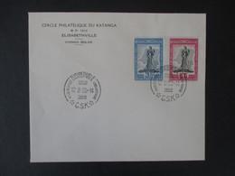 DOCUMENT CONGO BELGE 1950 (V1909) CERCLE PHILATéLIQUE DU KATANGA (2 Vues) ELISABETHVILLE 298/299 - Congo Belge