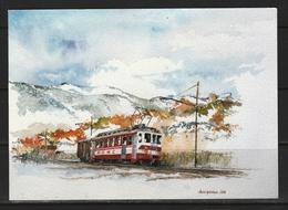 Automotrice BDeh 4/4 14 Chemin De Fer Aigle - Ollon - Monthey - Champéry. - Trains