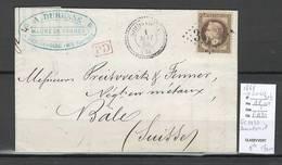 France - Lettre De SOMMELOIRE - Haute Marne  - GC 3432 - Yvert 30B - 1849-1876: Classic Period