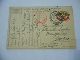 WW1 CARTOLINA POSTALE FRANCHIGIA 62°REGG.FANT. BATT.ABRUZZI VS MACCAGNO VARESE - Guerra 1914-18