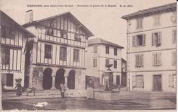 CPA - URRUGNE Près St Jean De Luz  -  Fontaine Et Place De La Mairie - Urrugne