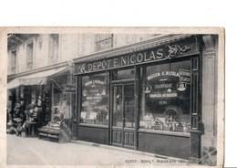 """PARIS -  DEPOT. Boulevard MAGENTA 121. """"LAIT D'ARCY"""" Dépôt E. NICOLAS ... Etat Moyen, Mais Solide. Voir SCAN. 1907 - District 10"""