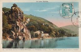 Loire : SAINT-ETIENNE : Le Rocher Maudit Sur La Loire Au Perthuiset ( Colorisée ) - Saint Etienne
