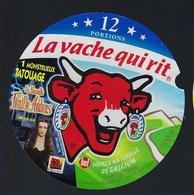 """Etiquette Fromage La Vache Qui Rit   """" 1monstueux Tatouage La Nouvelle Famille Adams   """" 12 Portions - Cheese"""