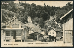 Suisse (VD) - Lausanne - Funiculaire Du Signal - Phototypie CO. N° 3474 - Voir 2 Scans - VD Vaud