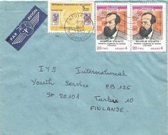 Madagascar 1985 Antsirabe Chess Wilhelm Steinitz Champion FIDE UPU Cover - Schaken