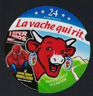 """Etiquette Fromage La Vache Qui Rit   """" 8 Super Heros Marvel L'araignée"""" 24 Portions - Fromage"""