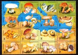 CI1359B - LIBIA LYBIA , Emissione Funghi : 16 Valori In Blocco  ***  MNH  Champignons Mushrooms - Funghi