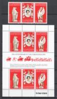 St Cristopher Nevis Anguilla 1978 Mi 347-349 + Kleinbogen MNH 25TH ANNIV CORONATION QUEEN ELIZABETH - Familles Royales