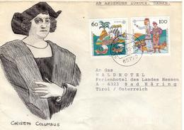 D+ Deutschland 1992 Mi 1608-09 Christoph Kolumbus (UNIKAT / ÙNICO / PIÉCE UNIQUE / JEDINEČNÝ) - Briefe U. Dokumente
