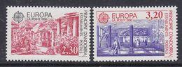 Europa Cept 1990 Andorra Fr 2v ** Mnh (42932K) - 1990