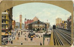 New York, Manhattan - Herald's Square, Railways - Theochrom Serie N° 181 - Manhattan
