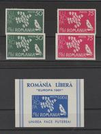 Roumanie 1961 Timbres Europa 2 Val + 2 Non Dentelé + BF ** MNH - Europa-CEPT