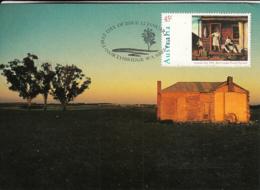 Australia 1995 Maxicard Sc 1418-1421 Paintings Australia Day - Cartes-Maximum (CM)