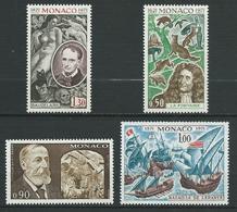 MONACO 1972 . N°s 867 à 870 . Neufs  ** (MNH) - Neufs