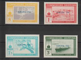 Europa 1961 Guernsey Sark 4 Val ** MNH - Europa-CEPT