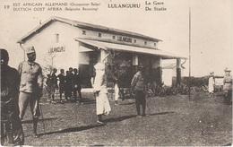 AK Lulanguru Bahnhof Gare Statie Tabora Tanganjikabahn DOA East Africain Allemand Occupation Congo Belge Timbre Tanzanie - Tanzanie