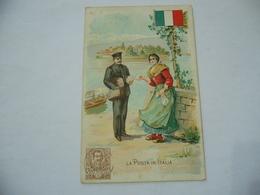 WW1 CARTOLINA PUBBLICITARIA LA POSTA IN ITALIA ACHILLE BRIOSCHI LYSOFORM. - Guerra 1914-18